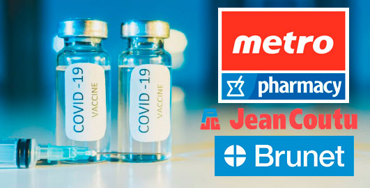 pharmacies Métro vaccination
